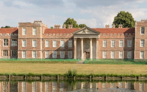 The Vyne stately home, roof renovation with Keymer tiles