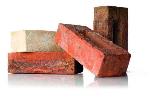 Set of facing bricks Terca with white background