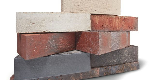 Close up of Porotherm interlocking clay block walling system