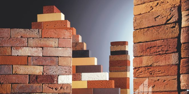 A photo display of the different coloured bricks available at Wienerberger Ltd.